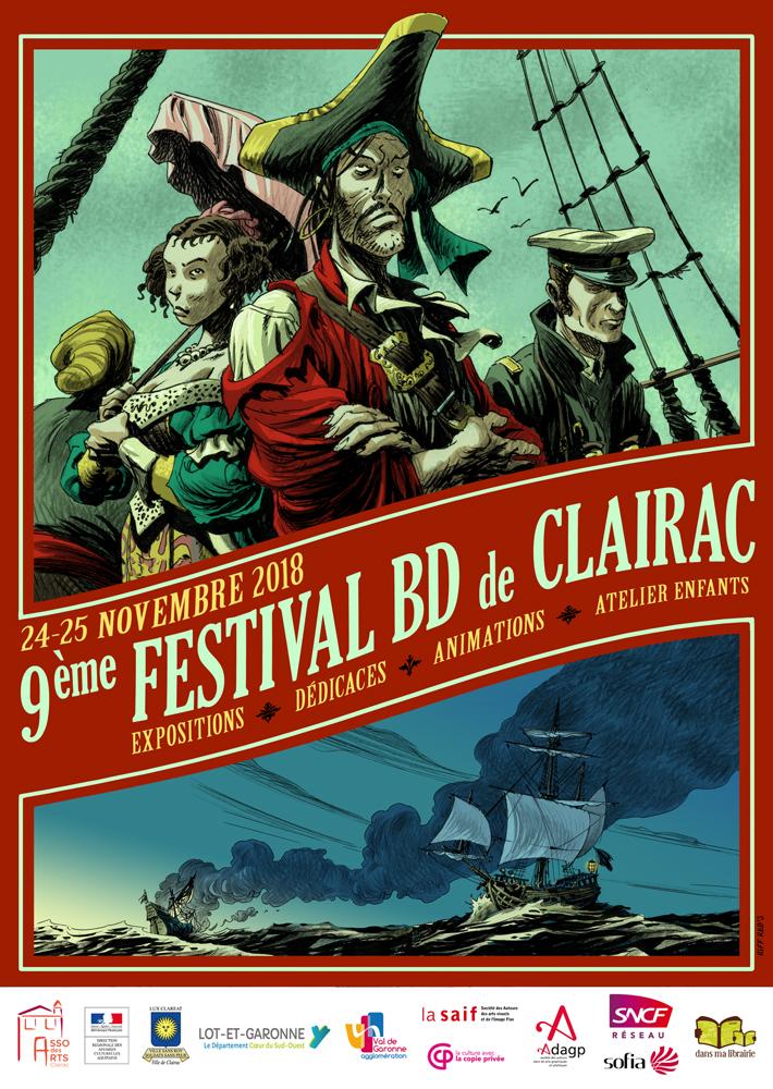 réalisation de Chapeaux pour le festival de la BD de Clairac sur le thème de la Mer